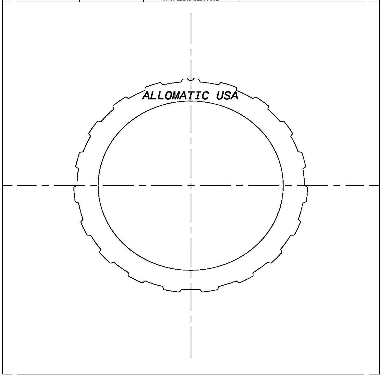 511370 | 1978-1989 Steel Clutch Plate Forward A4LD