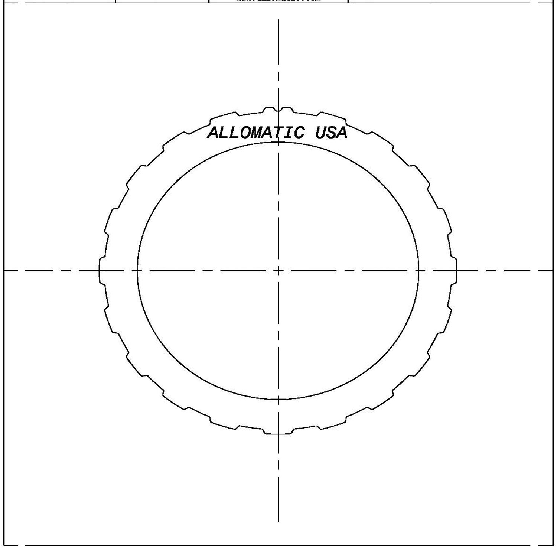 511371   1978-1989 Steel Clutch Plate High Reverse - A4LD, Overdrive