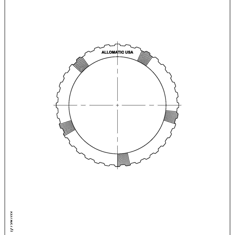 511414 | 1997-ON Steel Clutch Plate 2nd, Waved