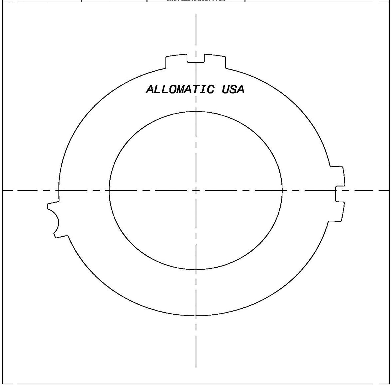 511442 | 1983-1993 Steel Clutch Plate 4th 4T60, 4T60E, 4T65E