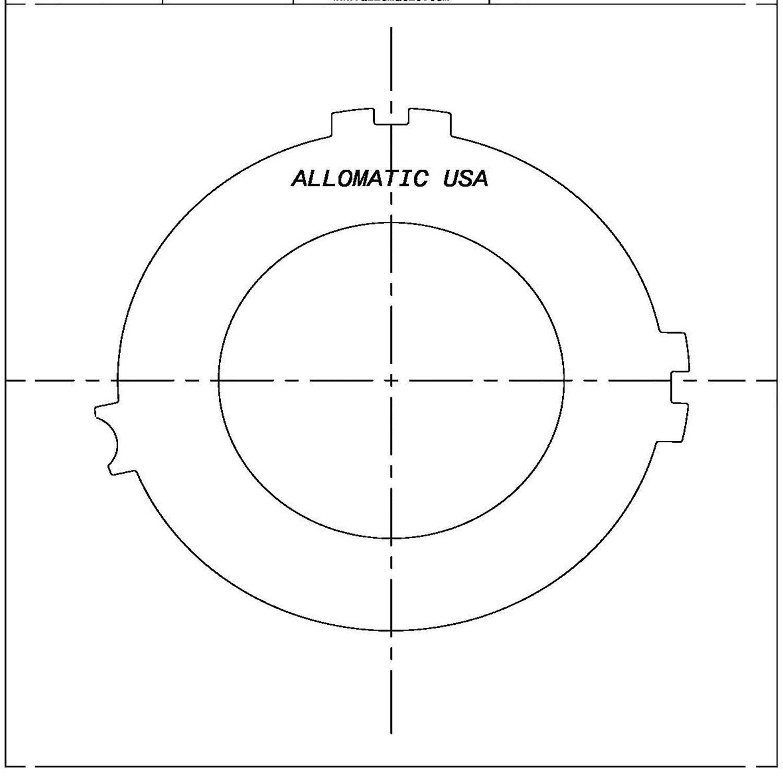 511450 | 1993-ON Steel Clutch Plate 4th, Apply 4T60E