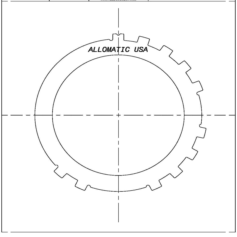 3T40, TH125, TH125C Steel Clutch Plate