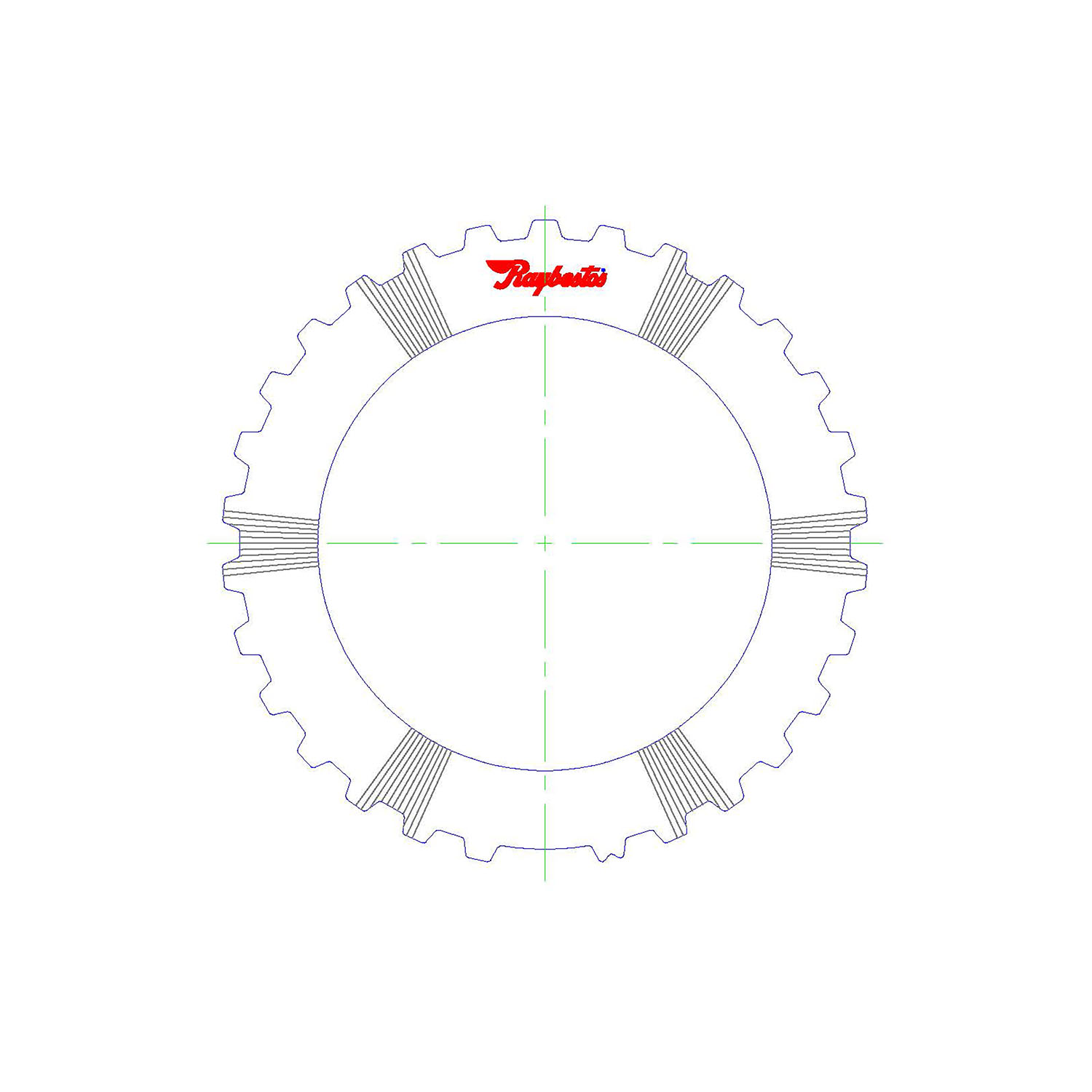 511507 | 1980-ON Steel Clutch Plate Forward, Waved