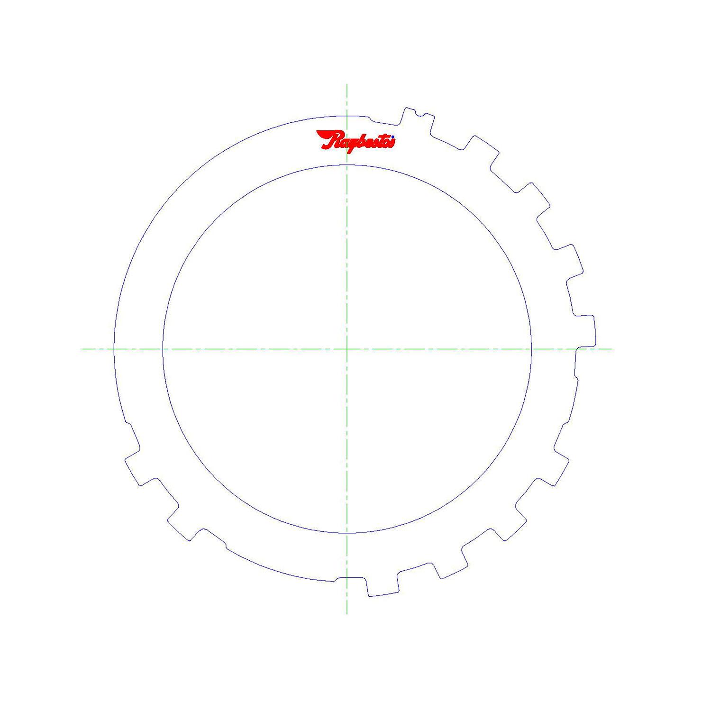 511508   1984-ON Steel Clutch Plate Low, Reverse