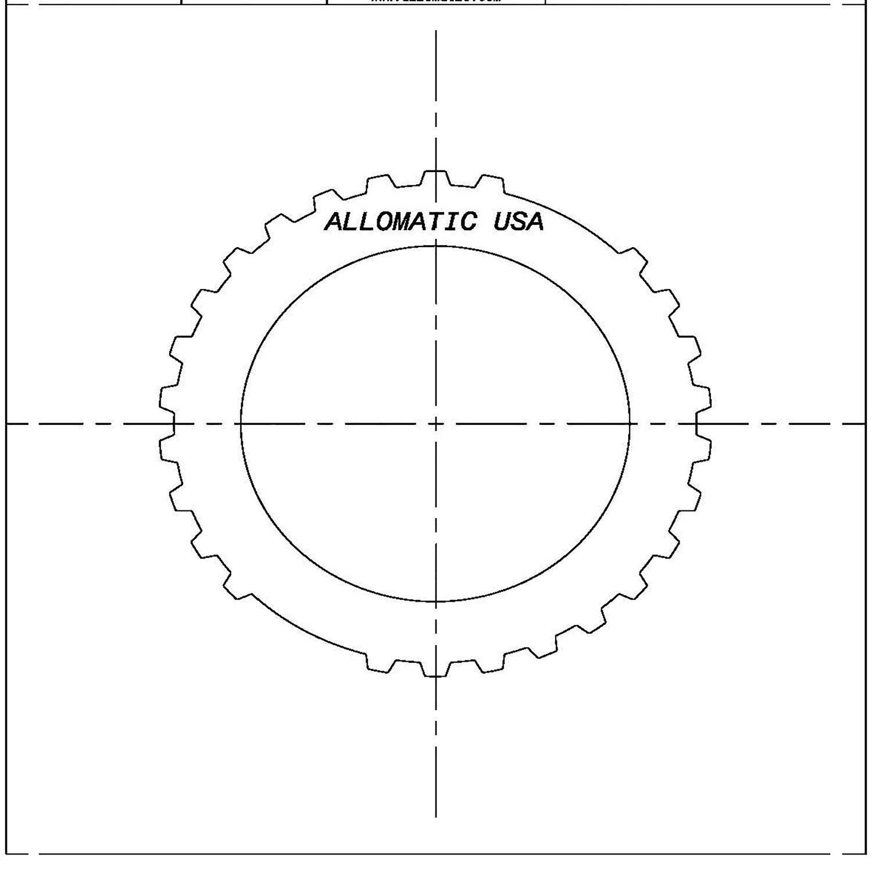 511509 | 1990-1994 Steel Clutch Plate Forward, Input