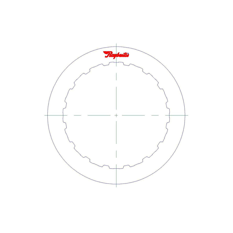 511544 | 1995-ON Steel Clutch Plate Direct, Internal Splines