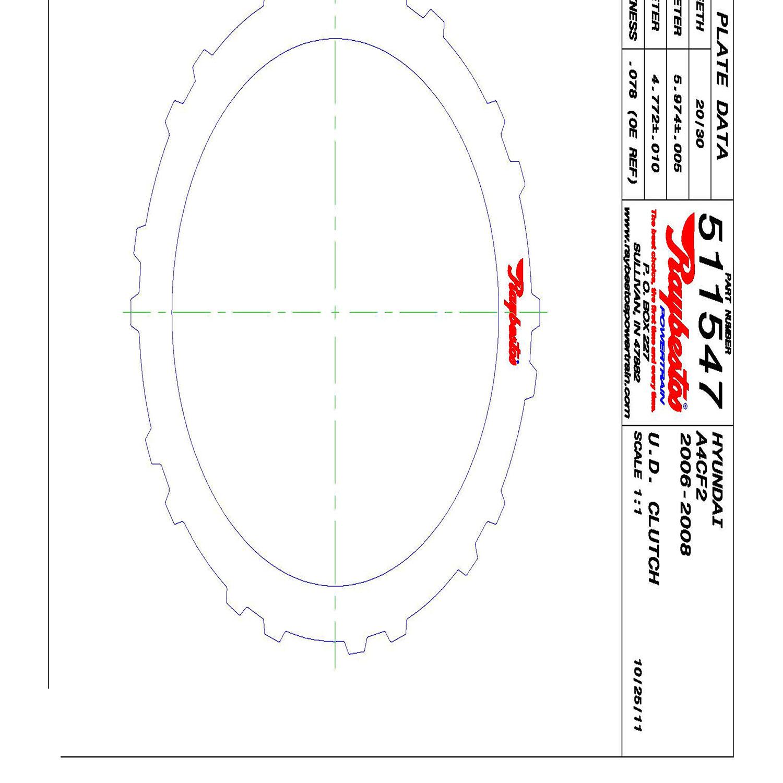 511547   2006-2008 Steel Clutch Plate Underdrive Clutch