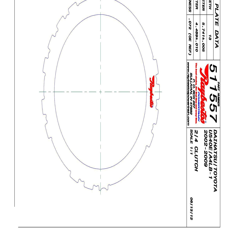 511557 | 2002-2009 Steel Clutch Plate 2, 4 Clutch