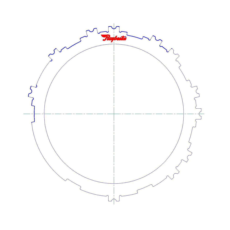 511568   2012-ON Steel Clutch Plate 1, 2, 3, 4