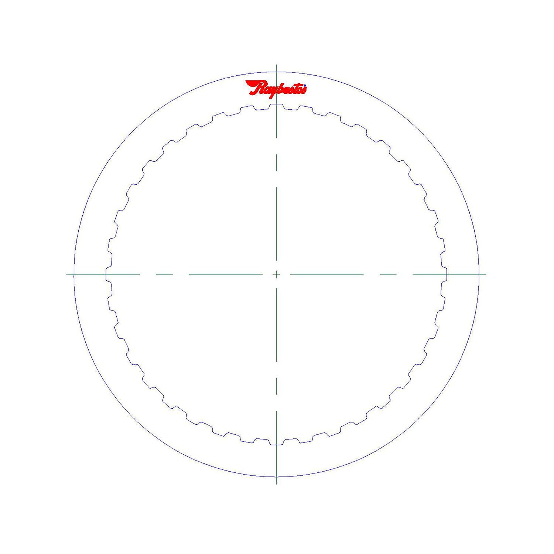 511572   2012-ON Steel Clutch Plate 3, 5, Reverse Single Sided, ID Spline