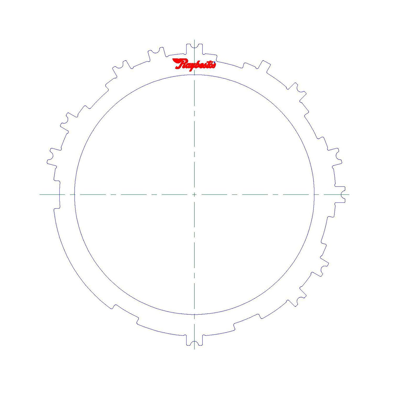 511571   2012-ON Steel Clutch Plate Low, Reverse