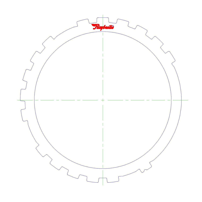 TH700-R4, 4L60, 4L60E, 4L65E, 4L70E Steel Clutch Plate