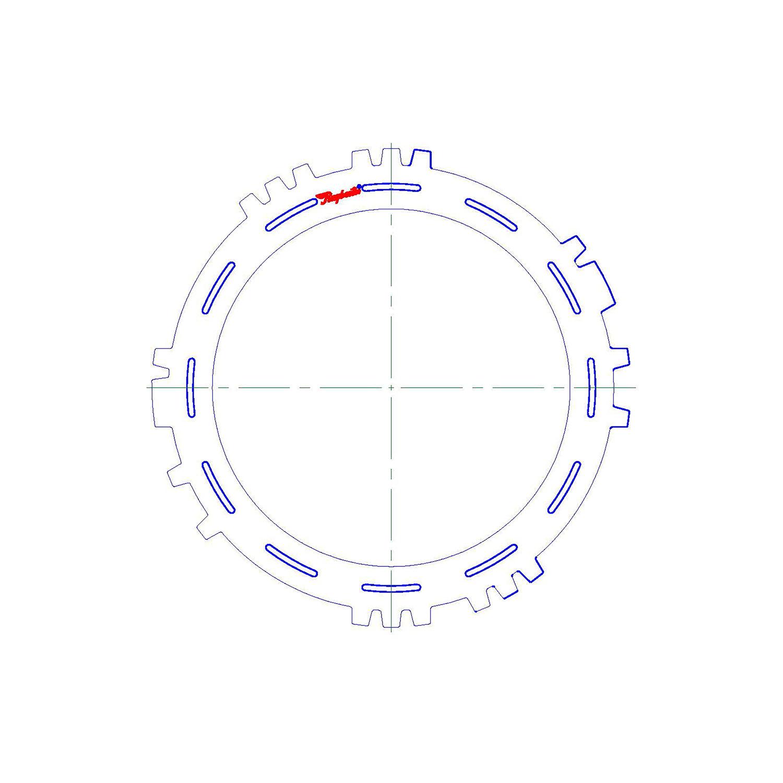 511633   1995-ON Steel Clutch Plate C3, C4 Reaction