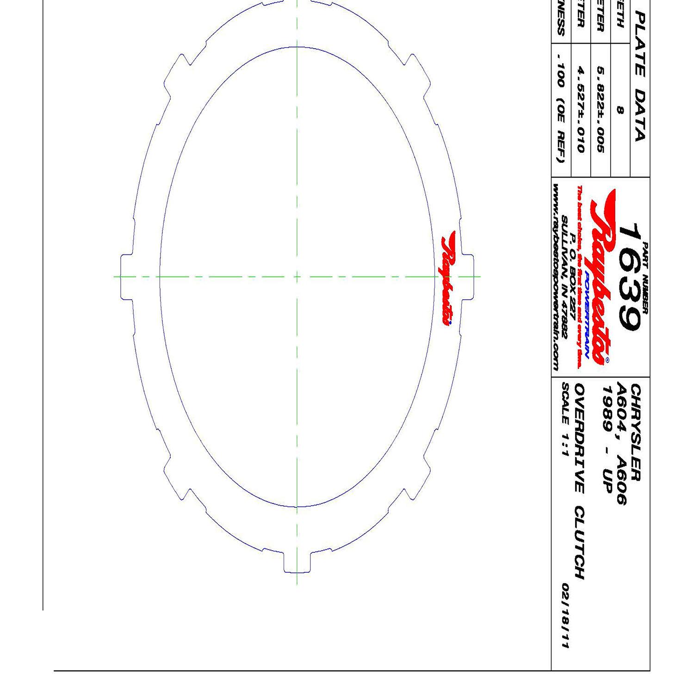 A604, 40TE, 41TE, 41AE Steel Clutch Plate