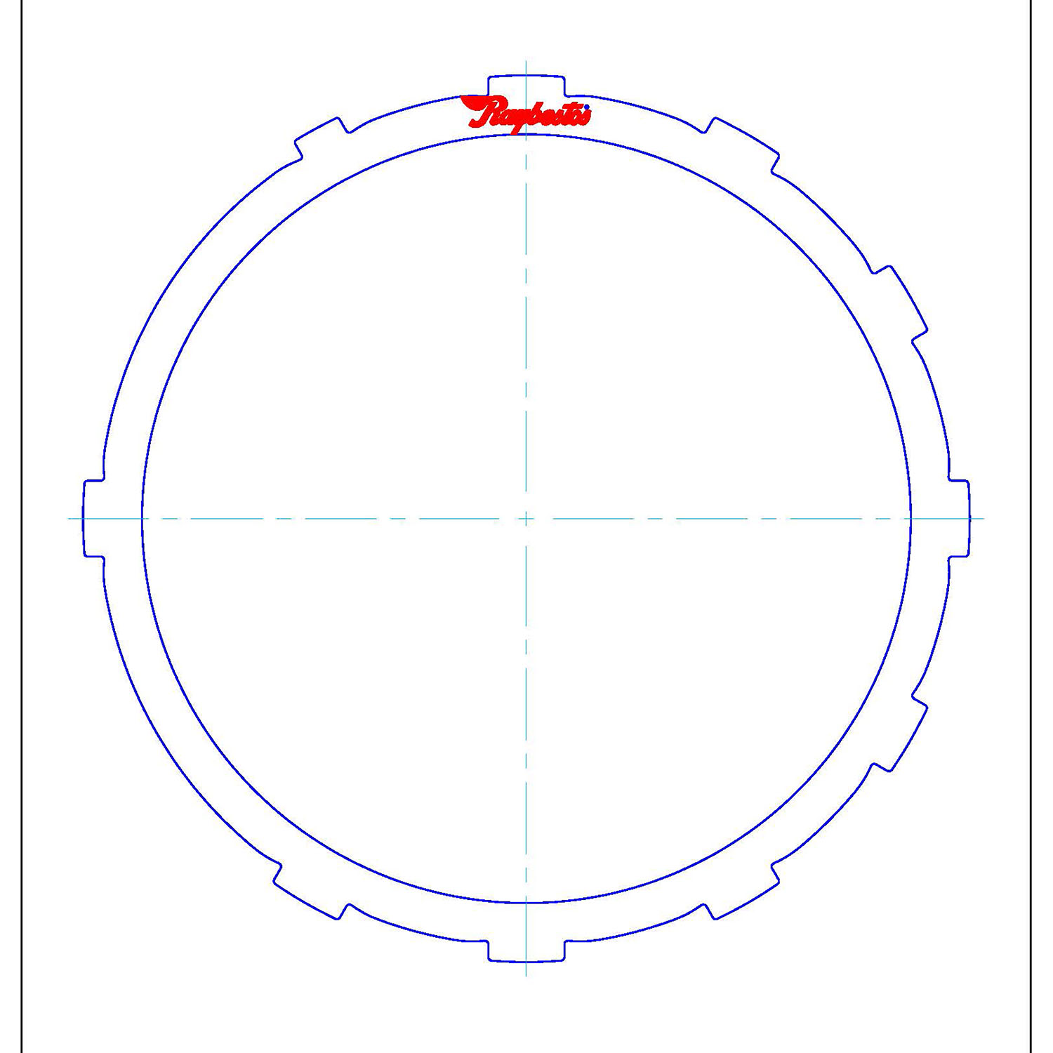 511669 | 2001-ON Steel Clutch Plate Low, Reverse