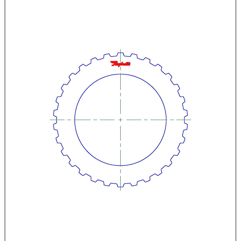 511675 | 1995-2004 Steel Clutch Plate E (3/4) Clutch