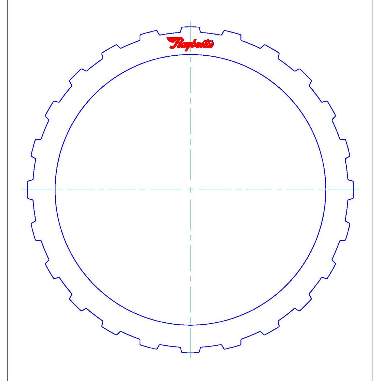511678 | 1995-2004 Steel Clutch Plate C (Intermediate/Overrun) Clutch