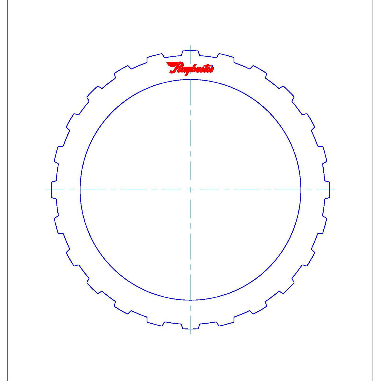 511682 | 1995-2006 Steel Clutch Plate A (Forward), C (Intermediate/Overrun) Clutch