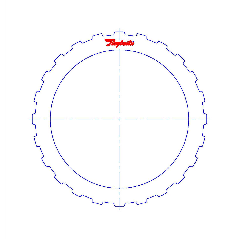 511681 | 1992-2003 Steel Clutch Plate E1 (3/4), F (Overdrive/5th) Clutch