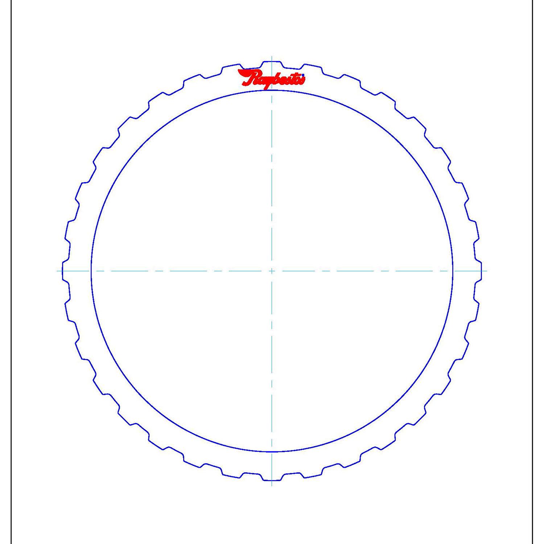 511683 | 1992-2003 Steel Clutch Plate B (Direct/Reverse), C (Intermediate/Overrun), D (Low/Reverse), E2 (Overrun/5th) Clutch
