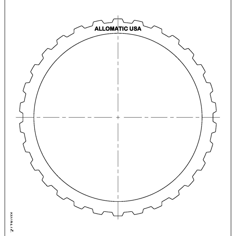 511691 | 1996-2001 Steel Clutch Plate K2 Clutch