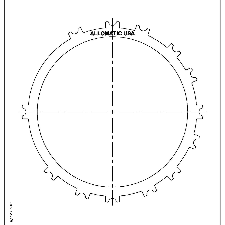511717 | 1999-ON Steel Clutch Plate Low, Reverse