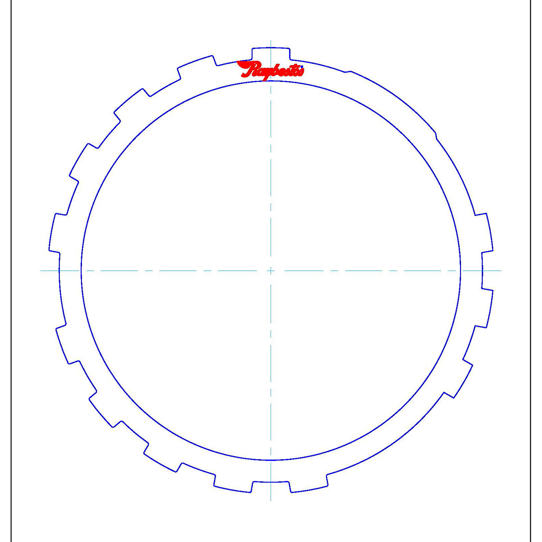 511724 | 1999-2007 Steel Clutch Plate B3 1st, Reverse