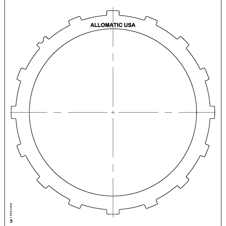 511729 | 1998-ON Steel Clutch Plate Low, Reverse