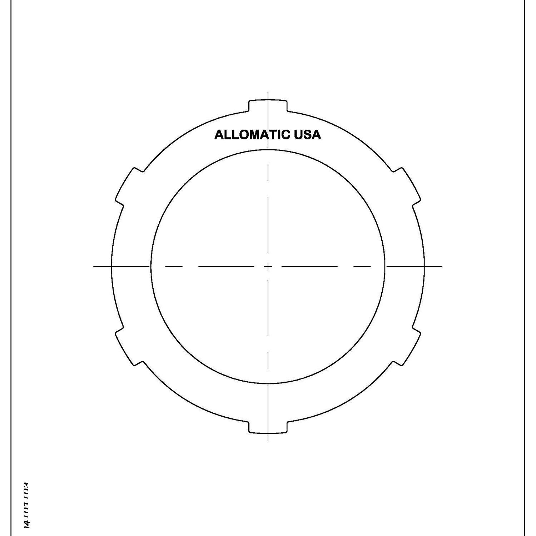 511746 | 1984-1997 Steel Clutch Plate K1 Clutch