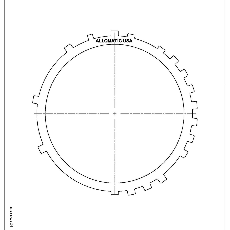 511757 | 1997-ON Steel Clutch Plate 1st, Reverse