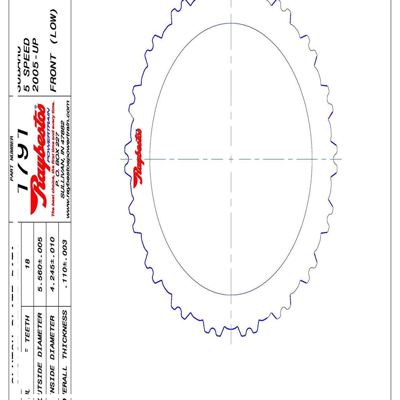 511791 | 2005-ON Steel Clutch Plate Front, Low