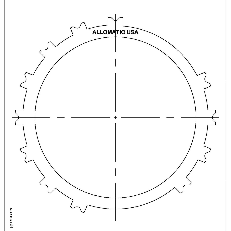 511801   2001-ON Steel Clutch Plate 1st, Reverse Brake