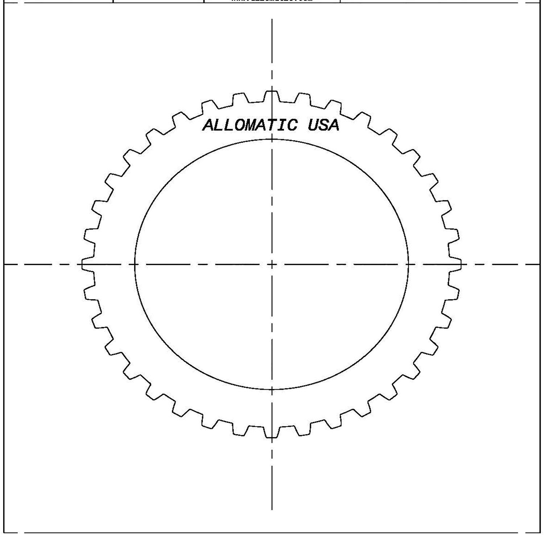 511804   1990-ON Steel Clutch Plate Overrun 4L30E