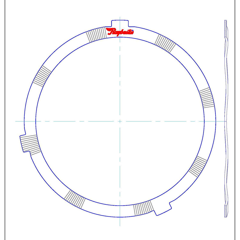 511809   1969-1998 Steel Clutch Plate Reverse Cushion Waved