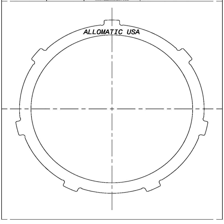 TH180, TH180C, 3L30, 4L30E Steel Clutch Plate