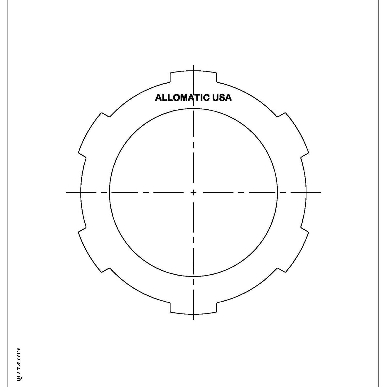 511822 | 1965-1970 Steel Clutch Plate A10 (2 Speed)