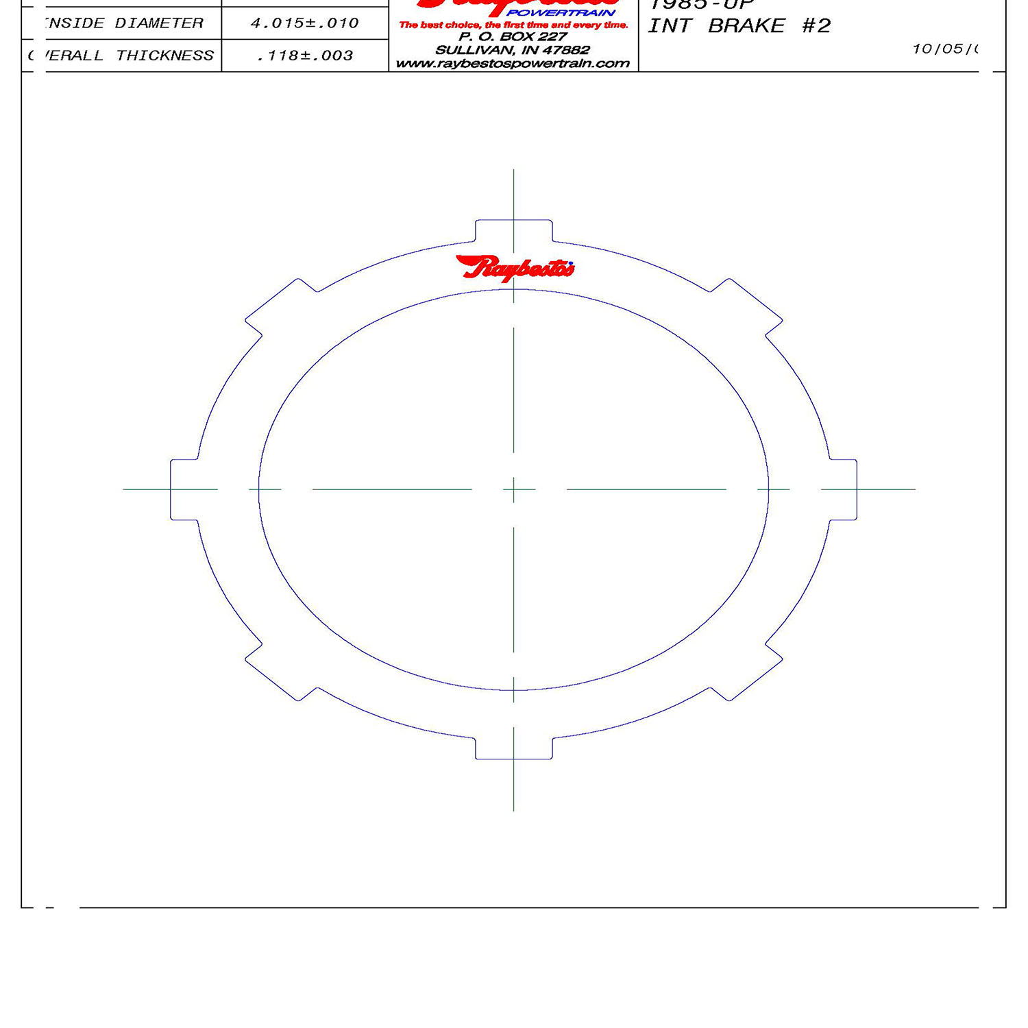 511838 | 1985-ON Steel Clutch Plate Intermediate
