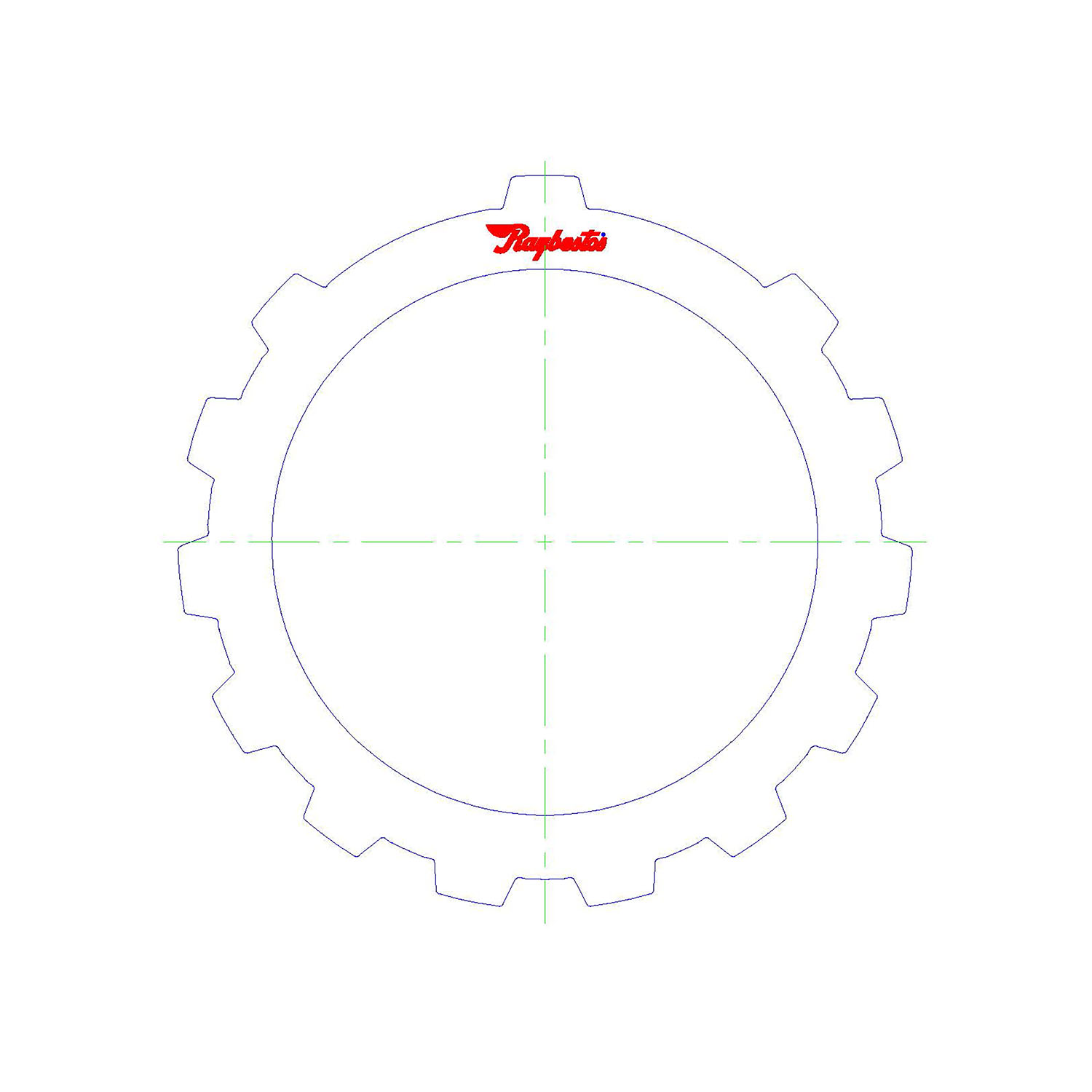 511857 | 1972-ON Steel Clutch Plate Low, Reverse