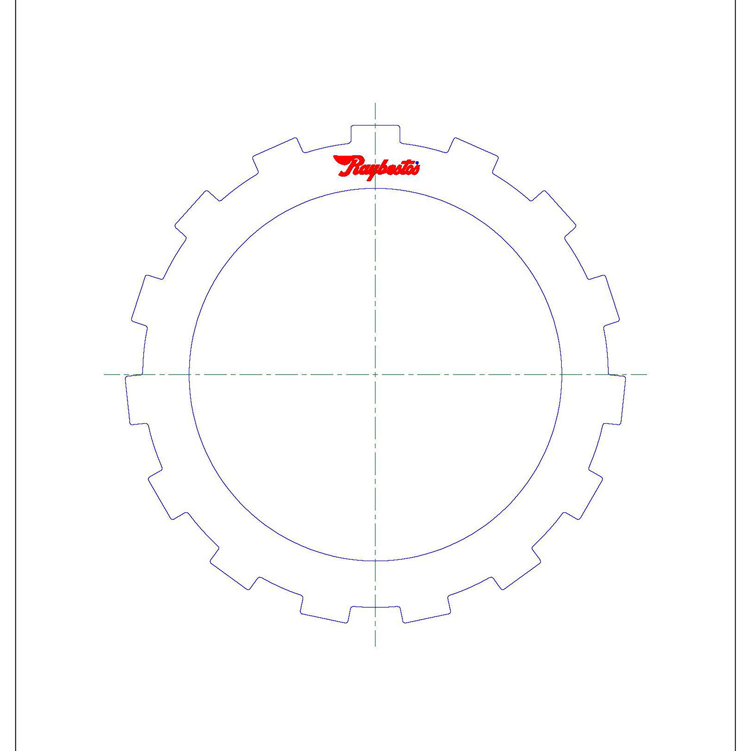 511869 | 1973-ON Steel Clutch Plate Low, Reverse