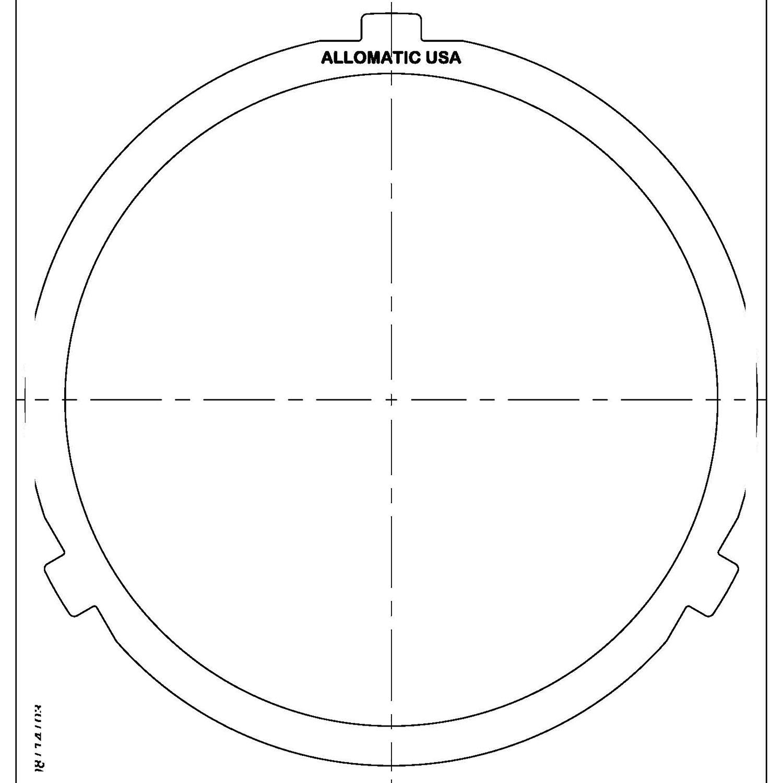 511891   1983-ON Steel Clutch Plate Low, Reverse