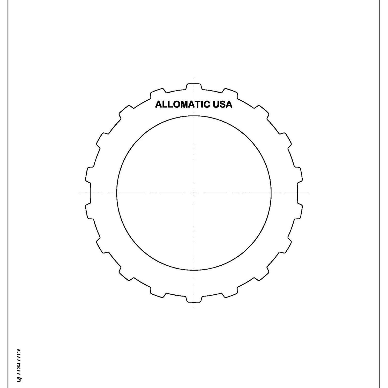511906 | 1996-2000 Steel Clutch Plate 1st A4RA, B4RA, B46A