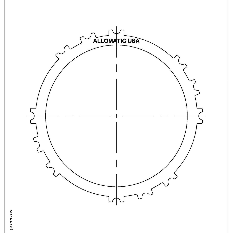 511980 | 1993-ON Steel Clutch Plate Low, Reverse