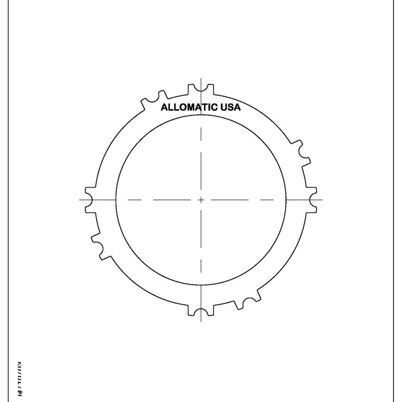 511981 | 1993-ON Steel Clutch Plate Underdrive