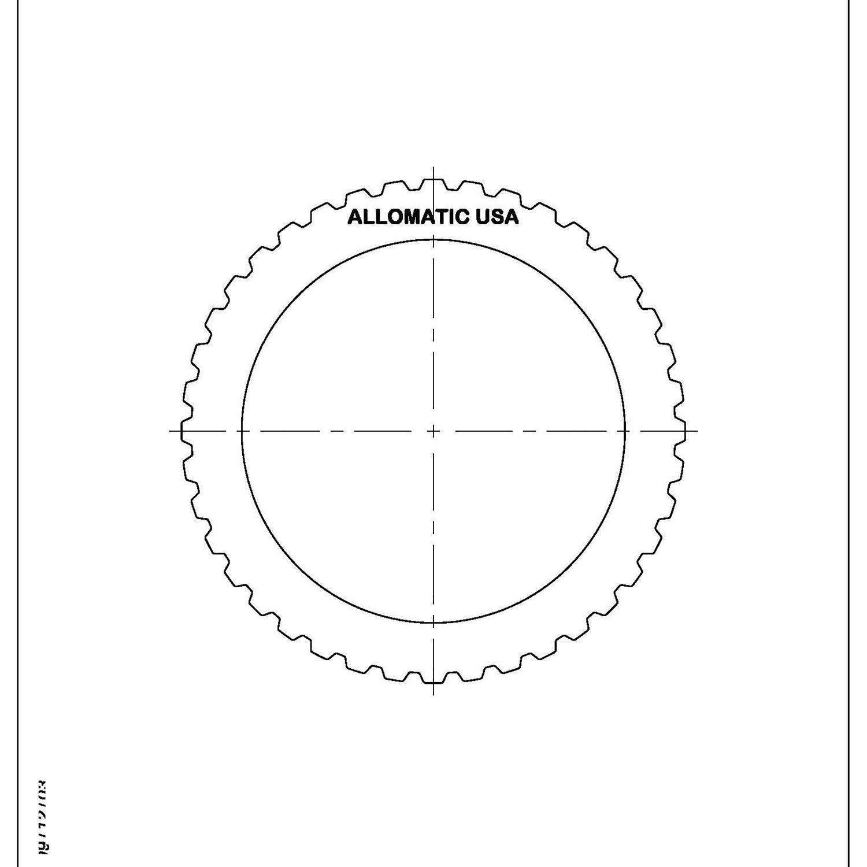 511983   1999-ON Steel Clutch Plate Underdrive, 1st