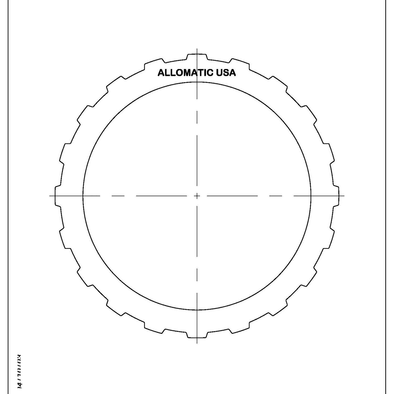 511996 | 1995-2004 Steel Clutch Plate Forward