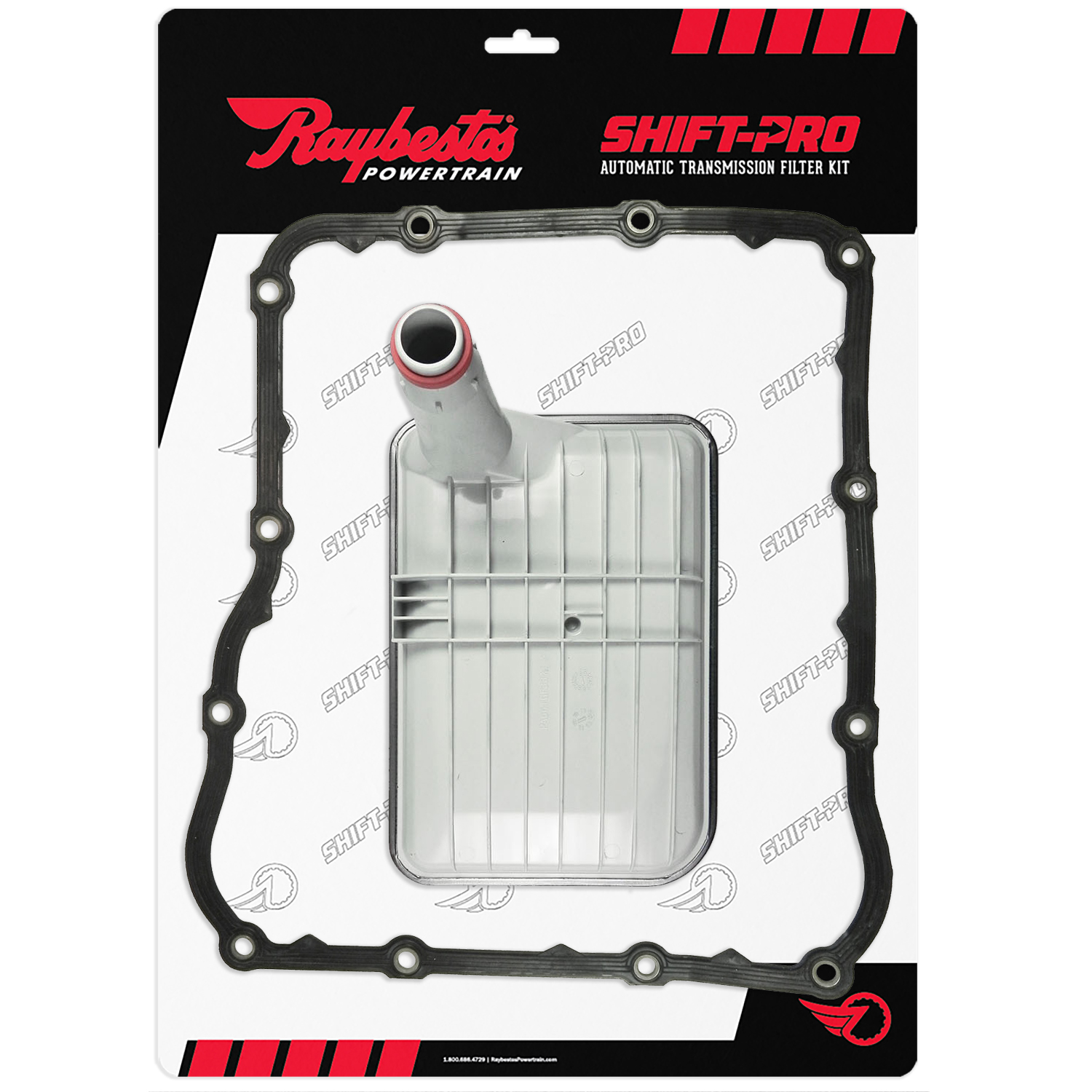Raybestos Powertrain Shift-Pro premium transmission filter kits eliminate leaks and reduce overall labor time. Ideal for commercial and DIY projects, RPT shift-pro filter kits come complete with OEM-sytle filters and OEM-style, re-usable transmission pan gaskets and are available for many automatic transmission applications including 6L80E, 6HP26, 6R140, 47RE, Allison 1000, and more.
