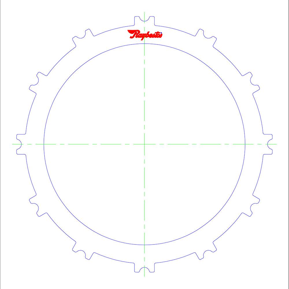 65RFE, 66RFE Underdrive/Reverse Steel Clutch Plate
