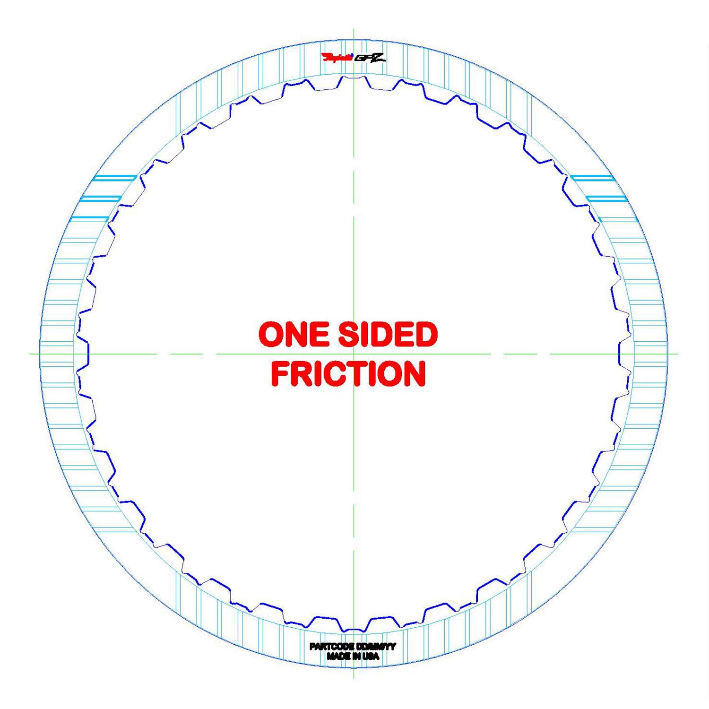 722.6 K1, B1 Single Sided, ID Spline GPZ Friction Clutch Plate
