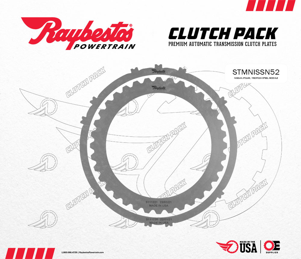 JF018E / RE0F02H Steel Clutch Pack