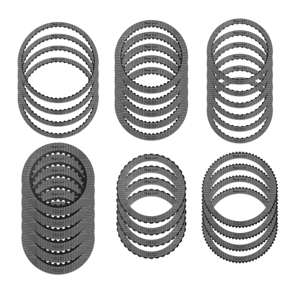 (4) GPZ780 A Brake, (5) GPZ755 B Brake, (6) GPZ756 C Clutch, (6) GPZ781 D Clutch, (4) GPZ782 E Clutch, (4) GPZ759 F Clutch (Use with 6.7 Ltr diesel steel module STMFORD21)